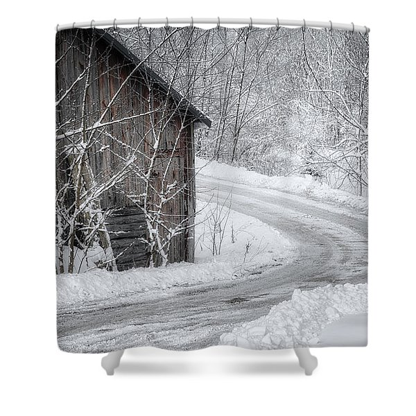 Touched By Snow Shower Curtain