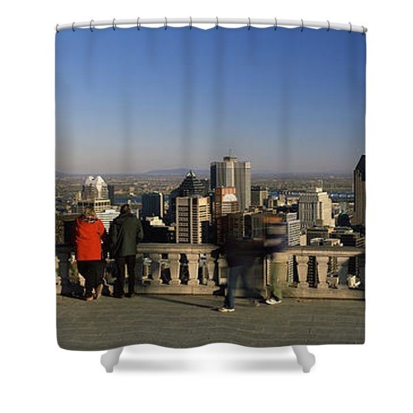 Tourists At An Observation Point Shower Curtain