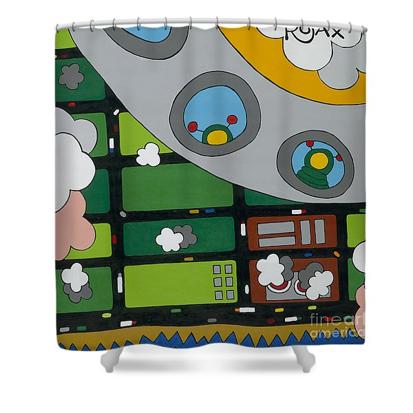 Tourists Shower Curtain