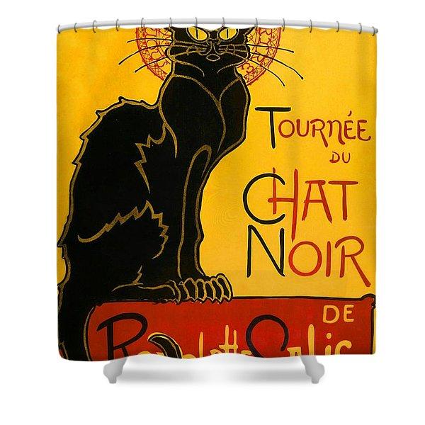 Tournee Du Chat Noir Shower Curtain
