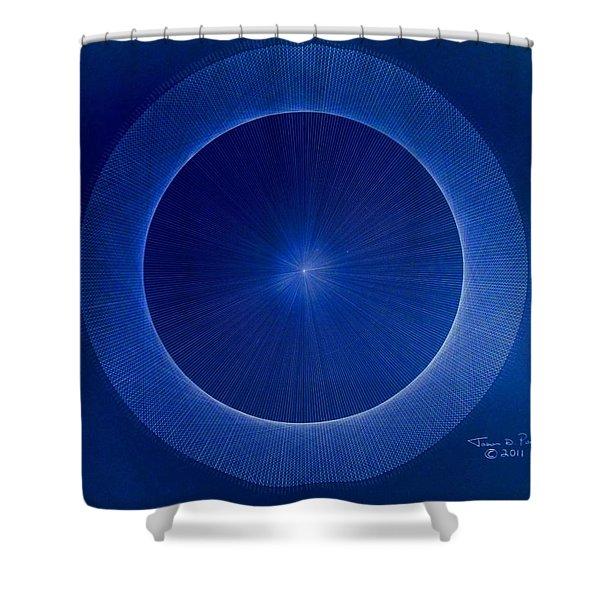 Towards Pi 3.141552779 Hand Drawn Shower Curtain