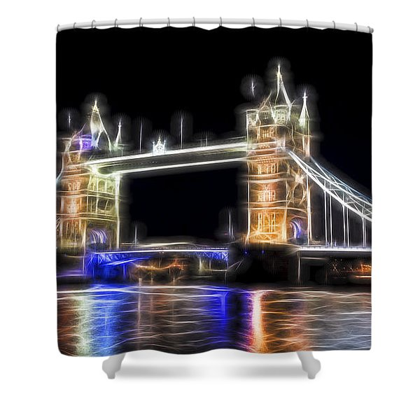 Tower Bridge Abstract Shower Curtain