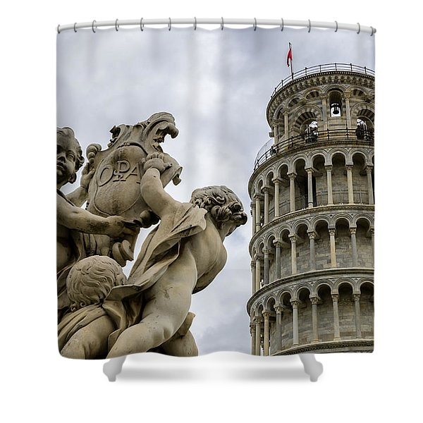 Tower Of Pisa Shower Curtain