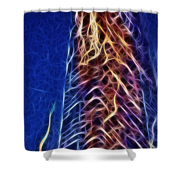 Towering Inferno Shower Curtain