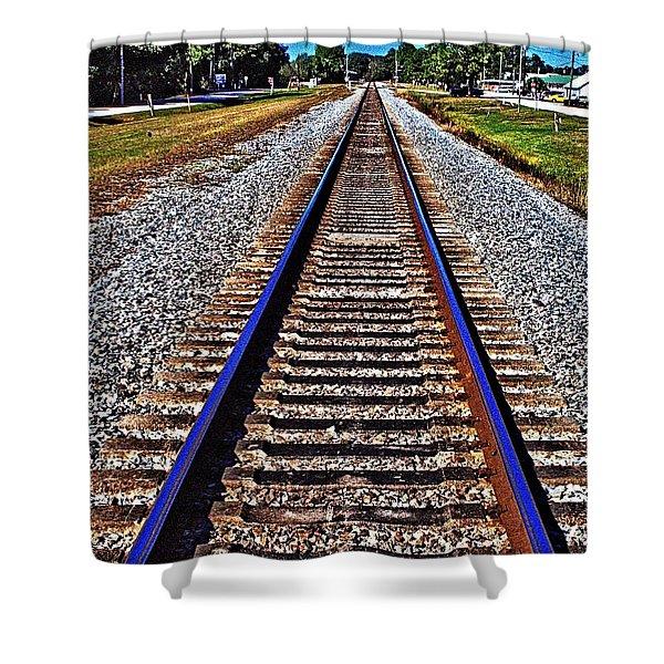 Tracks To Somewhere Shower Curtain
