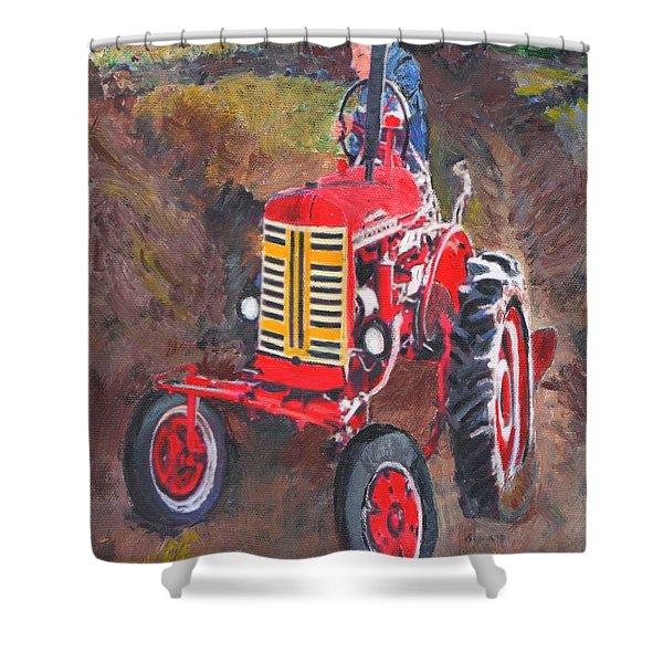 Tractor At Warren Woods Shower Curtain