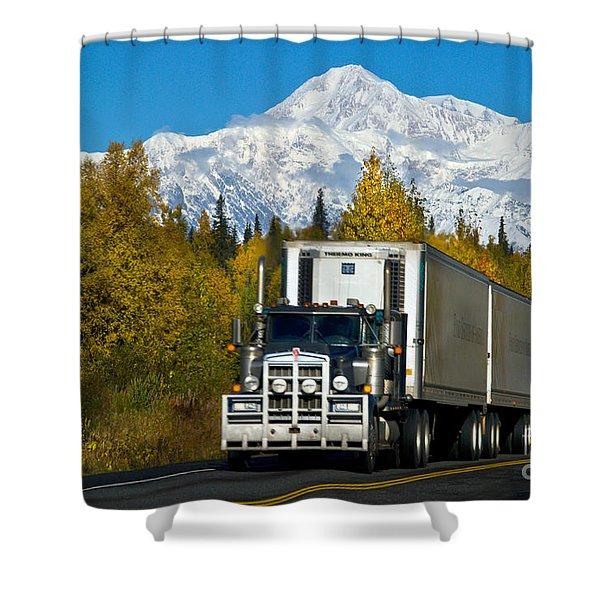 Tractor-trailer Shower Curtain