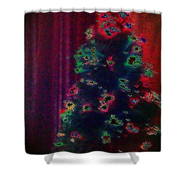Traditional Christmas Shower Curtain