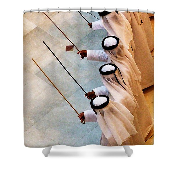 Traditional Emirati Men's Dance  Shower Curtain