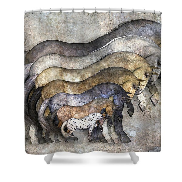 Traditional Horses Shower Curtain
