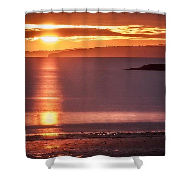 Traeth Bychan At Sunrise Shower Curtain