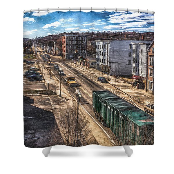 Traffic On Lincoln Street Shower Curtain