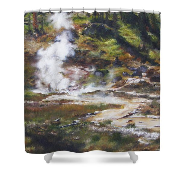 Trail To The Artists Paint Pots - Yellowstone Shower Curtain