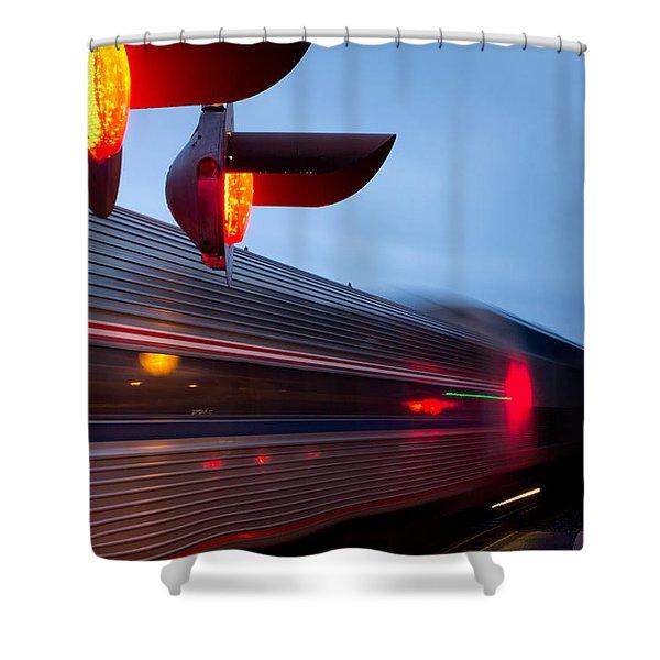 Train Crossing Road Shower Curtain