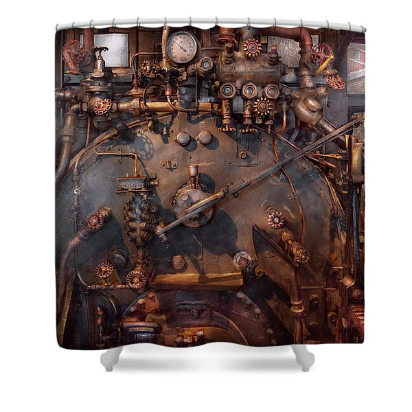 Train - Engine - Hot Under The Collar  Shower Curtain