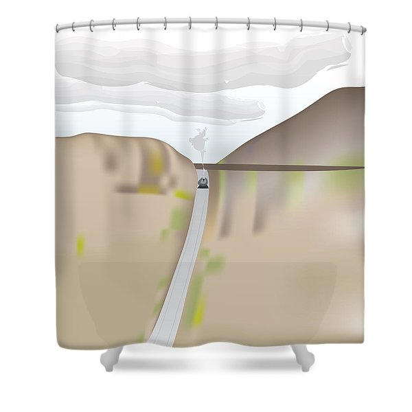 Train Landscape Shower Curtain