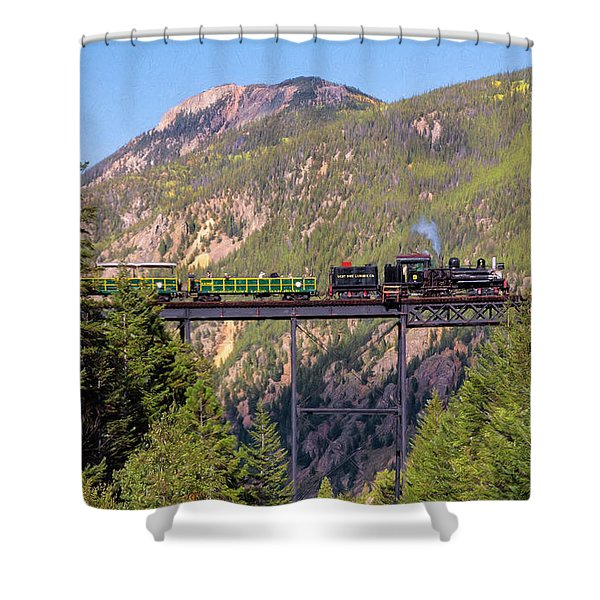 Train Over The Trestle Shower Curtain