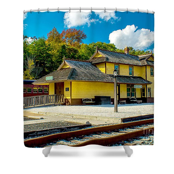 Train Station In Tuckahoe Shower Curtain