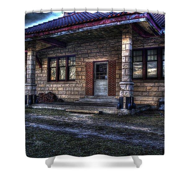Train Stop Shower Curtain
