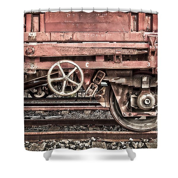 Train Wagon Shower Curtain