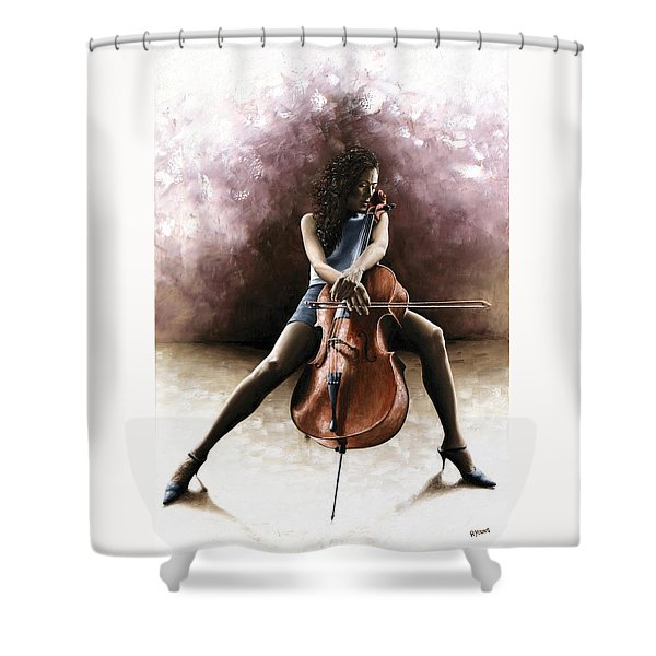Tranquil Cellist Shower Curtain