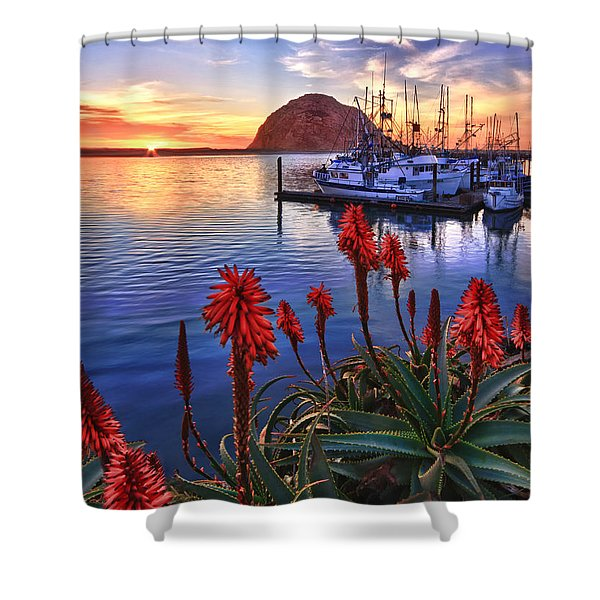 Tranquil Harbor Shower Curtain