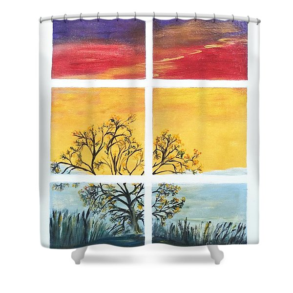 Tranquil View Shower Curtain