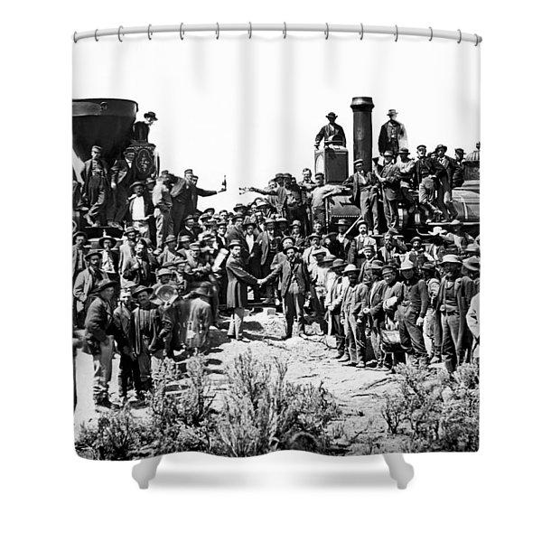 Transcontinental Railroad Shower Curtain