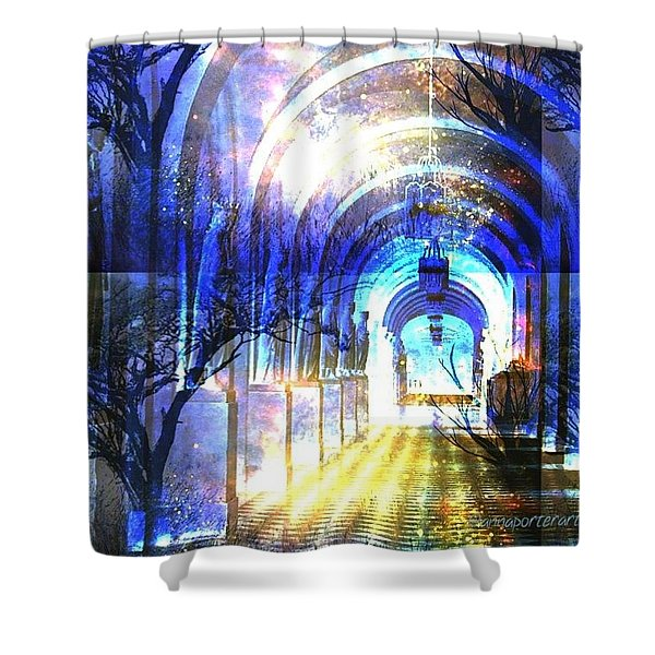 Transitions Through Time Shower Curtain