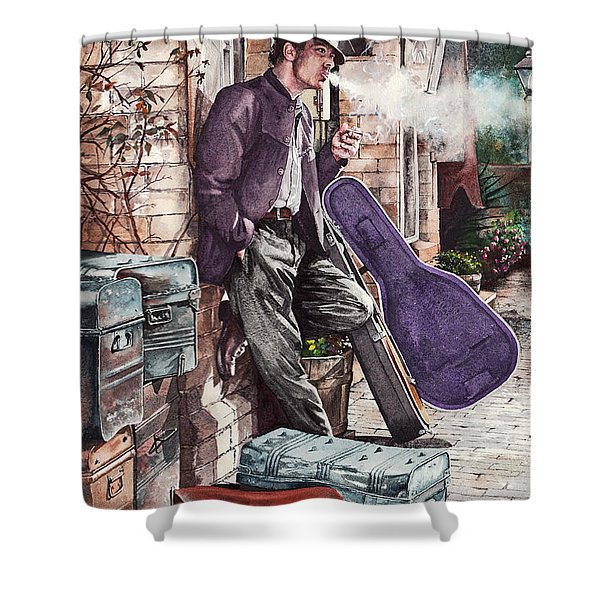 Travelling Man Shower Curtain