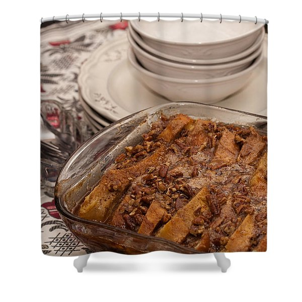 Tray Of Baked French Toast Shower Curtain