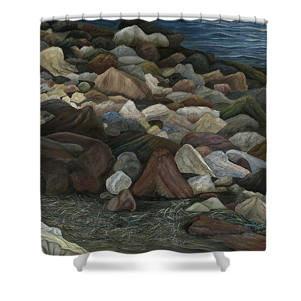 Treasure Stones Shower Curtain