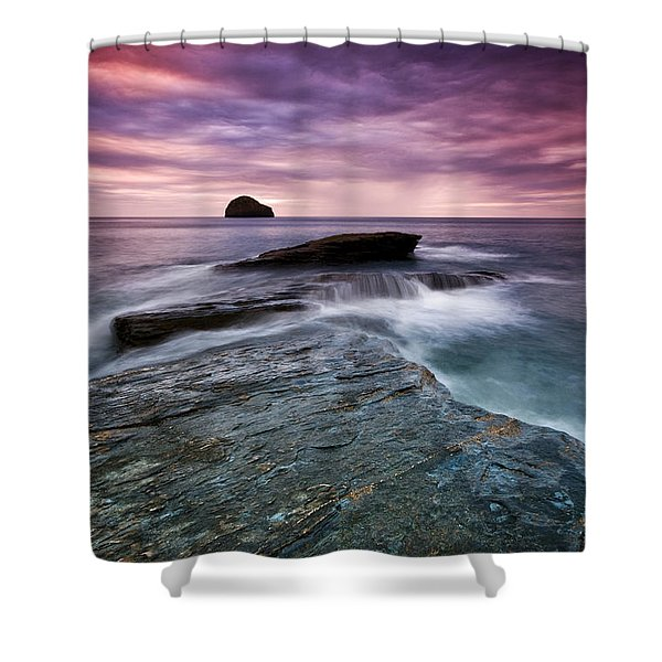 Trebarwith Strand Shower Curtain