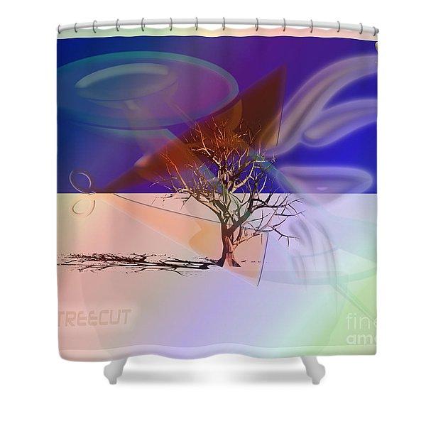 Tree Cut Shower Curtain