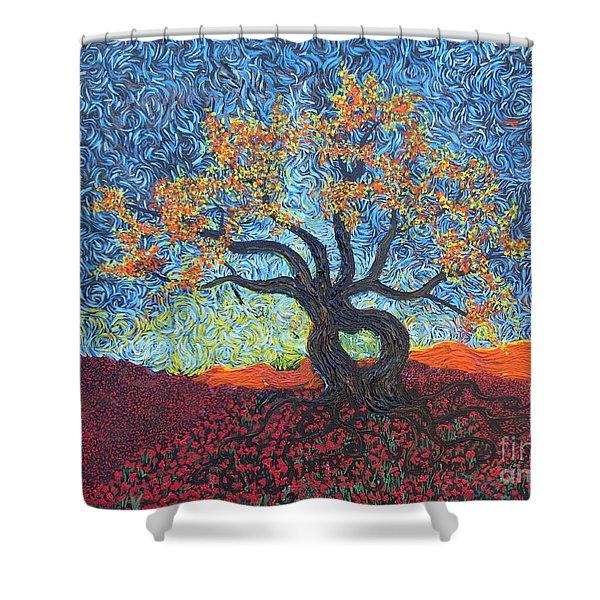 Tree Of Heart Shower Curtain