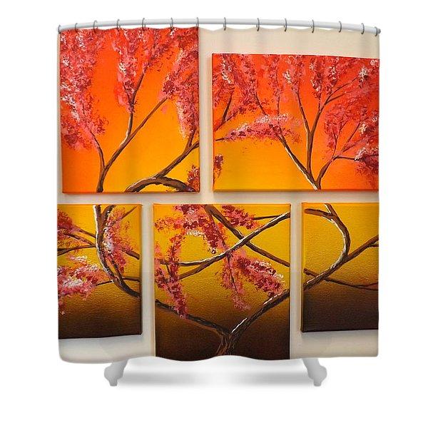 Tree Of Infinite Love Shower Curtain