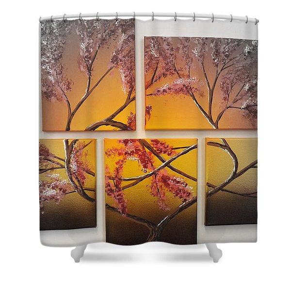 Tree Of Infinite Love Spotlighted Shower Curtain
