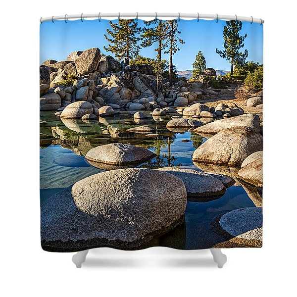 Trees And Rocks Shower Curtain