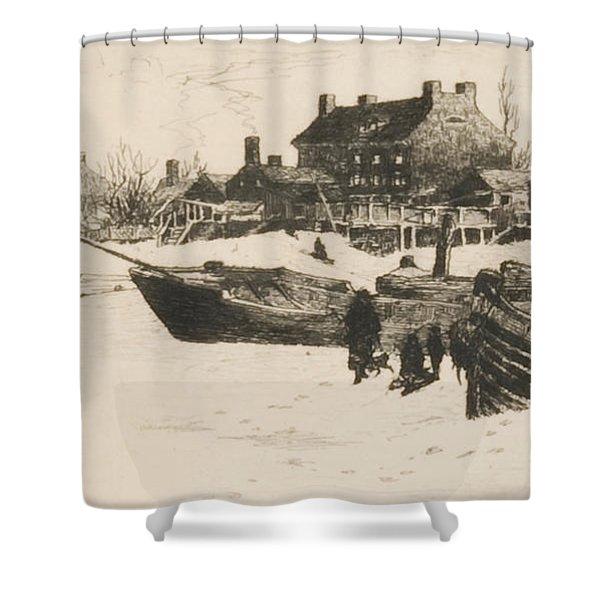 Trenton Winter Shower Curtain