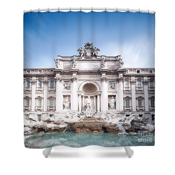 Trevi Fountain In Rome Shower Curtain