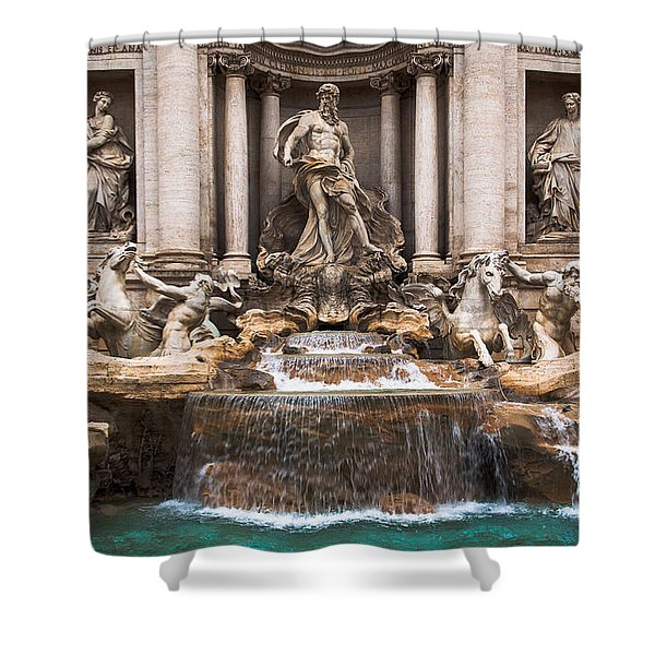Shower Curtain featuring the photograph Trevi Fountain by John Wadleigh