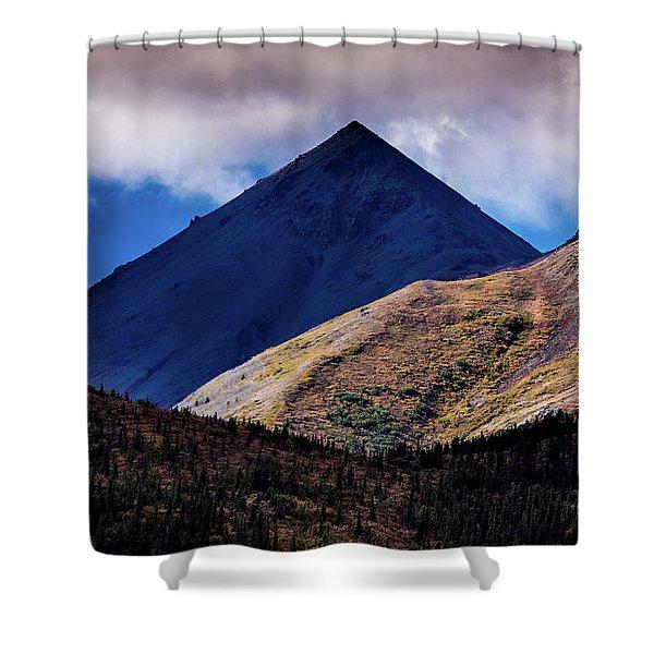 Triangular Pyramid Mountain, Denali Shower Curtain