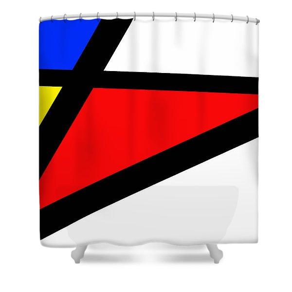 Triangularism II Shower Curtain