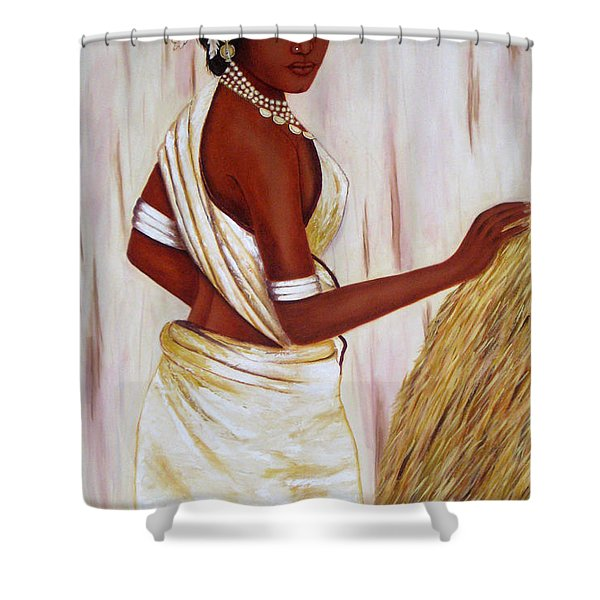 Tribal Girl Shower Curtain