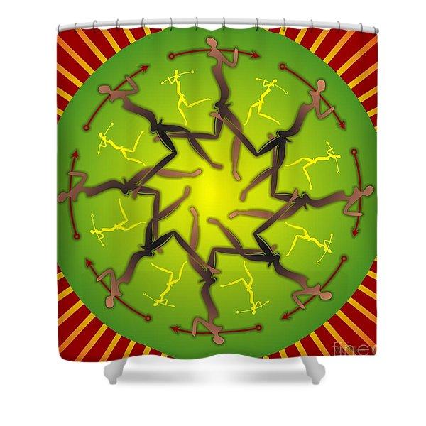 Tribal Warriors Shower Curtain