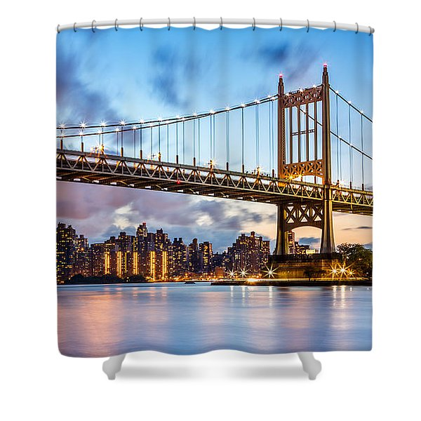 Triboro Bridge At Dusk Shower Curtain
