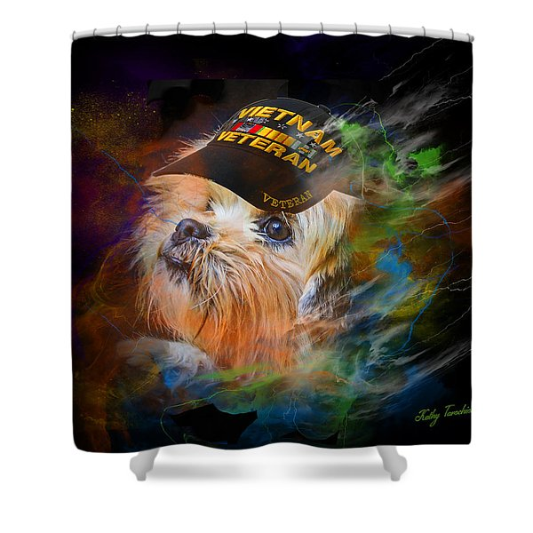 Tribute To Canine Veterans Shower Curtain