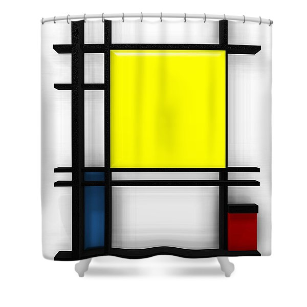 tribute to Mondrian 1 Shower Curtain