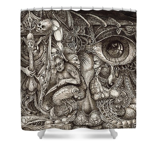 Tripping Through Bogomils Mind Shower Curtain