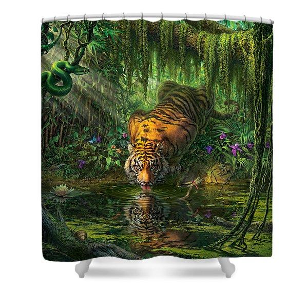 Aurora's Garden Shower Curtain